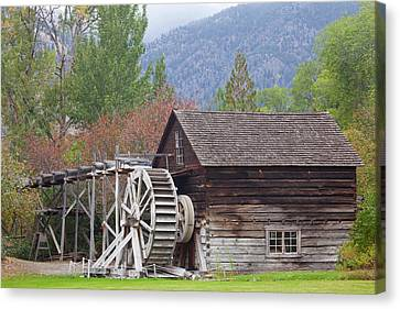 Grist Mill Canvas Print - Canada, British Columbia, Keremeos by Jaynes Gallery