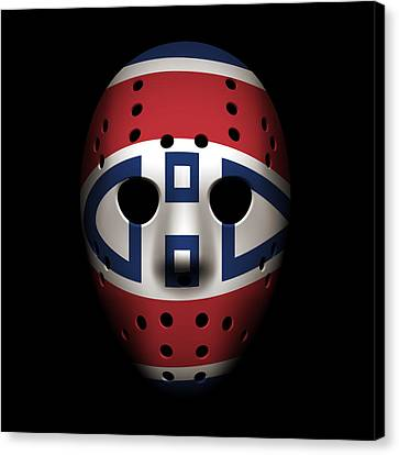 Canadiens Goalie Mask Canvas Print by Joe Hamilton