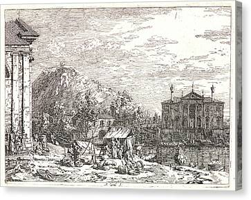 Villa Canvas Print - Canaletto Aka Antonio Canale Italian by Litz Collection