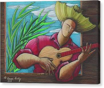 Cancion Para Mi Tierra Canvas Print by Oscar Ortiz