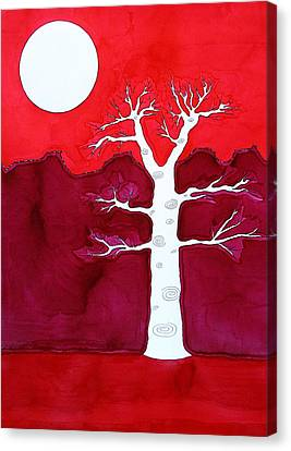 Canyon Tree Original Painting Canvas Print