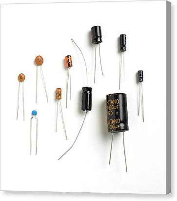 Capacitors Canvas Print