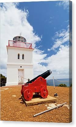 Cape Borda Light Station On Kangaroo Canvas Print