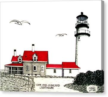 Cape Cod - Highland - Lighthouse Canvas Print by Frederic Kohli