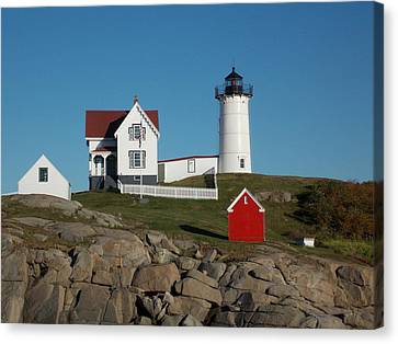 Cape Neddick Canvas Print by Catherine Gagne