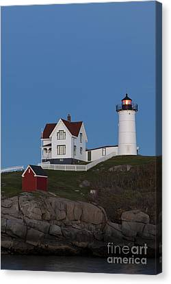 Nubble Lighthouse Canvas Print - Cape Neddick Lighthouse by John Shaw
