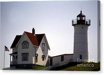 Cape Neddick Lighthouse Canvas Print by Skip Willits