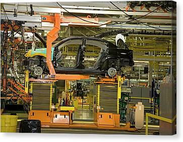 Car Assembly Production Line Canvas Print by Jim West