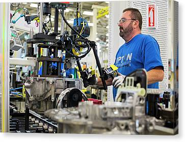 Auto Jobs Canvas Print - Car Transmission Plant by Jim West