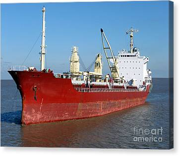 Cargo Ship Canvas Print by Olivier Le Queinec