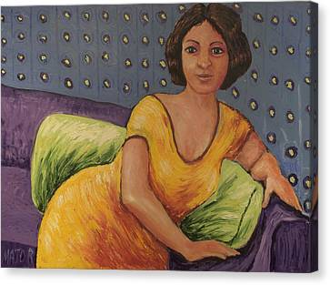 Carla Canvas Print by Clarence Major