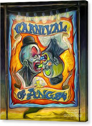 Carnival Of Angst Canvas Print by Gregory Dyer