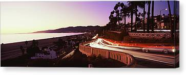 Cars On The Road, Highway 101, Santa Canvas Print