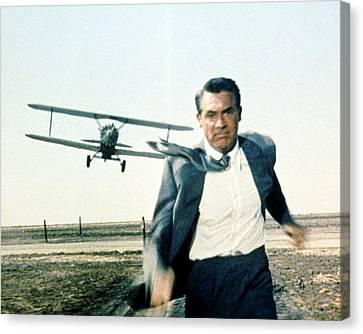 Cary Grant In North By Northwest  Canvas Print by Silver Screen