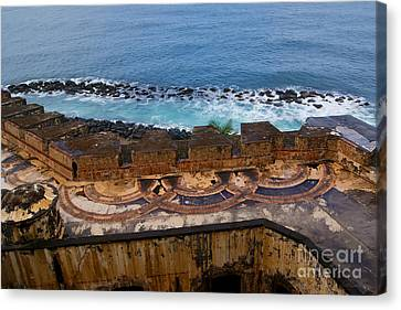 Canvas Print featuring the photograph Castillo San Felipe Del Morro by Olga Hamilton