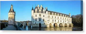 Castle Over A River, Chateau De Canvas Print