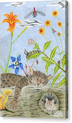 Cat And Mouse Canvas Print by Gerald Strine