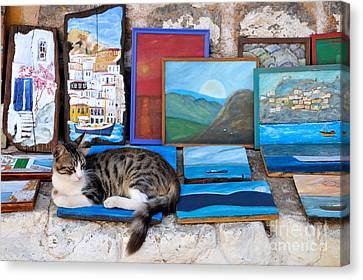 Artist Cat Canvas Print