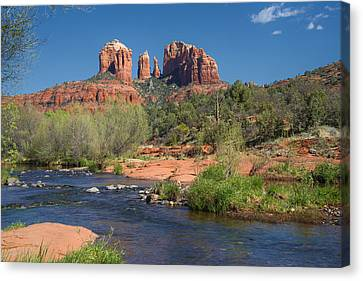 Cathedral Rock Viewed From Red Rock Crossing Canvas Print