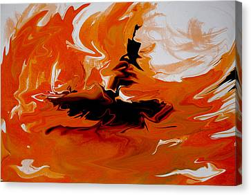 Caught In The Storm Canvas Print by Indira Mukherji