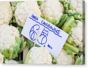 Cauliflower Canvas Print by Tom Gowanlock