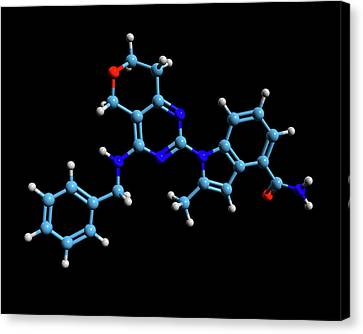 Trial Canvas Print - Cb-5083 Experimental Drug Molecule by Dr Tim Evans