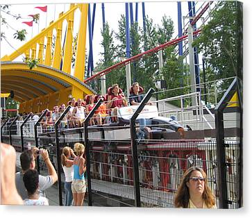 Cedar Point - Top Thrill Dragster - 12121 Canvas Print by DC Photographer