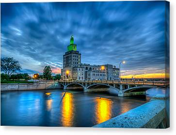 Cedar Rapids Mays Island At Sunset Canvas Print