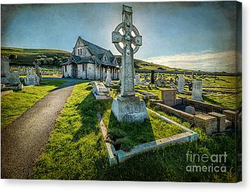 Celtic Cross Canvas Print by Adrian Evans