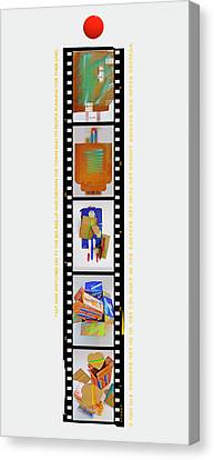 Cardboard Canvas Print - Chain Reaction by Charles Stuart