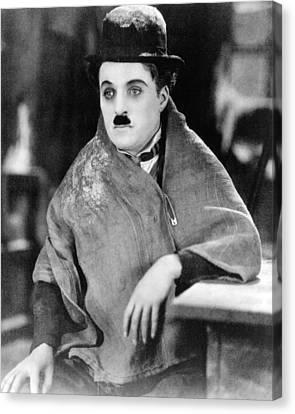 Charles Chaplin Canvas Print by Silver Screen