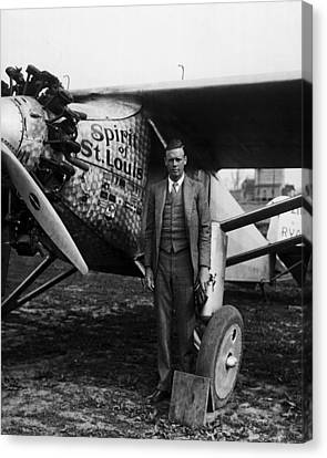 Explorer Canvas Print - Charles Lindbergh by Retro Images Archive