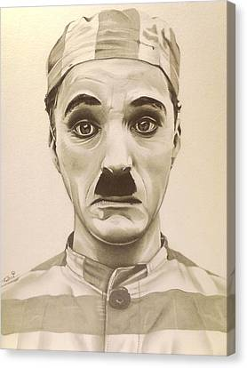 Vintage Charlie Chaplin Canvas Print by Fred Larucci