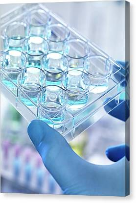 Chemical Research Canvas Print by Tek Image