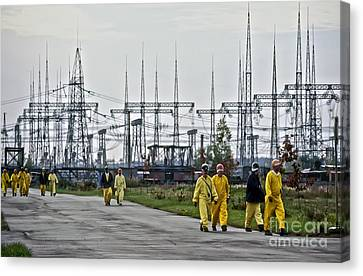 Chernobyl Disaster Shelter Maintenance Canvas Print by Patrick Landmann