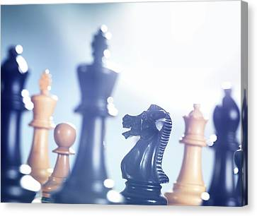 Chess Match Canvas Print