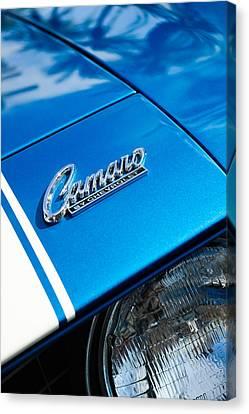 Chevrolet Camaro Emblem Canvas Print by Jill Reger
