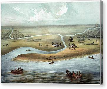Chicago, 1820 Canvas Print by Granger