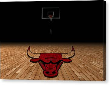 Benches Canvas Print - Chicago Bulls by Joe Hamilton