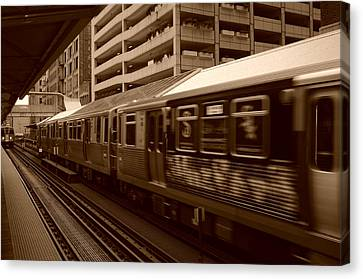 Chicago Cta Canvas Print by Miguel Winterpacht