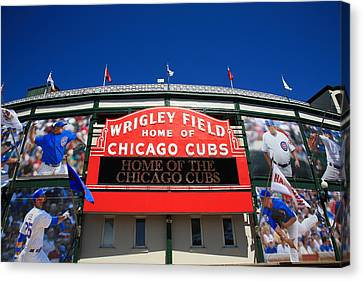 Chicago Cubs - Wrigley Field Canvas Print by Frank Romeo