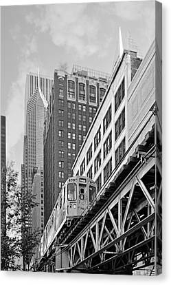 Subway Canvas Print - Chicago Loop 'l' by Christine Till
