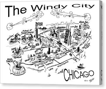 Chicago's Points Of Interest Canvas Print by Robert Tiritilli