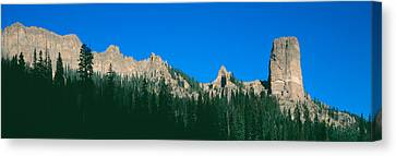 Chimney Peak In Uncompahgre National Canvas Print by Panoramic Images