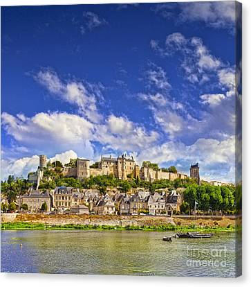 Chateau Canvas Print - Chinon Loire Valley France by Colin and Linda McKie