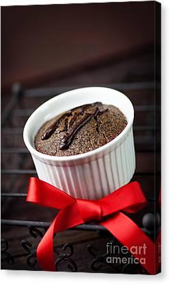 Chocolate Souffle Canvas Print by Mythja  Photography