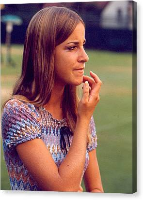 Chris Evert Canvas Print by Retro Images Archive