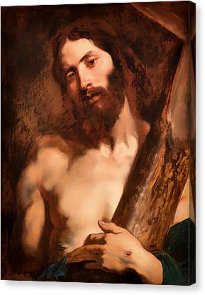 Christ Carrying The Cross Canvas Print by Mountain Dreams