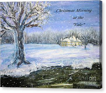 Christmas At The Vale Canvas Print by Rita Brown