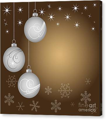 Christmas Background Canvas Print by Michal Boubin